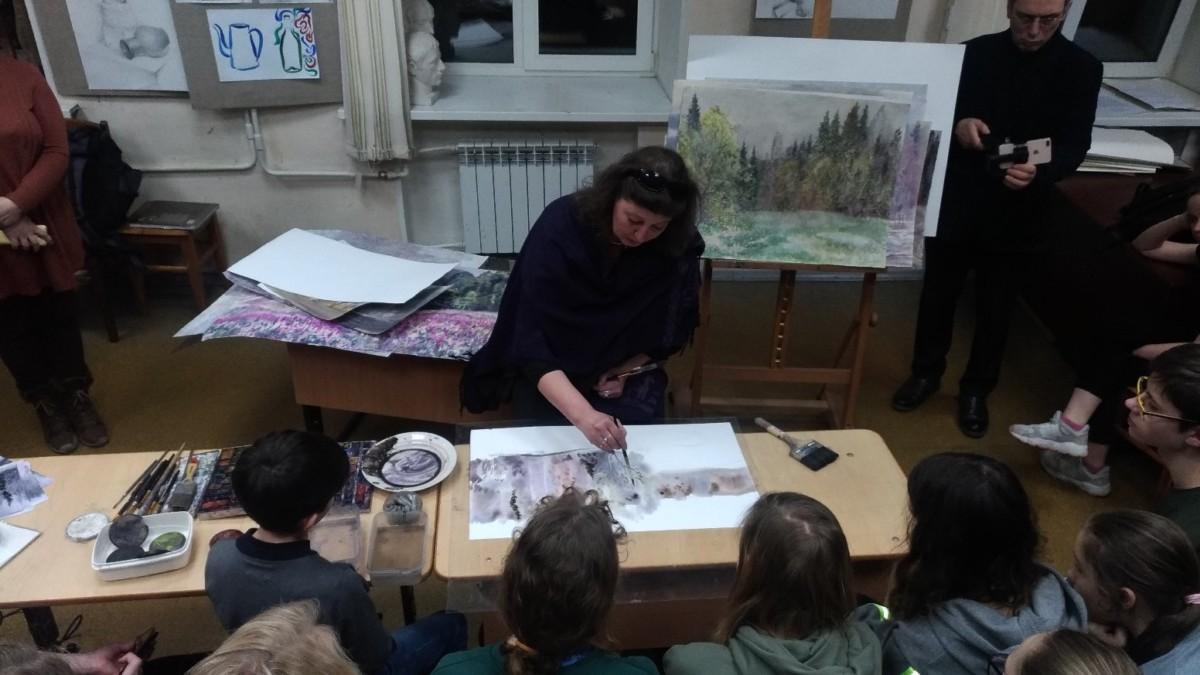 Выставка и мастер-класс Алины Лесовой