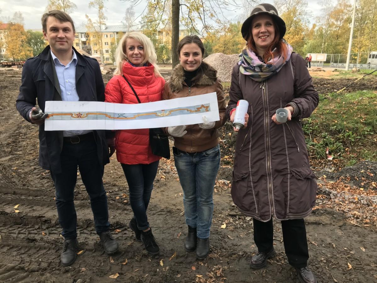 Учащиеся и преподаватели ДШИ Красносельского района помогли в оформлении сквера в Горелово