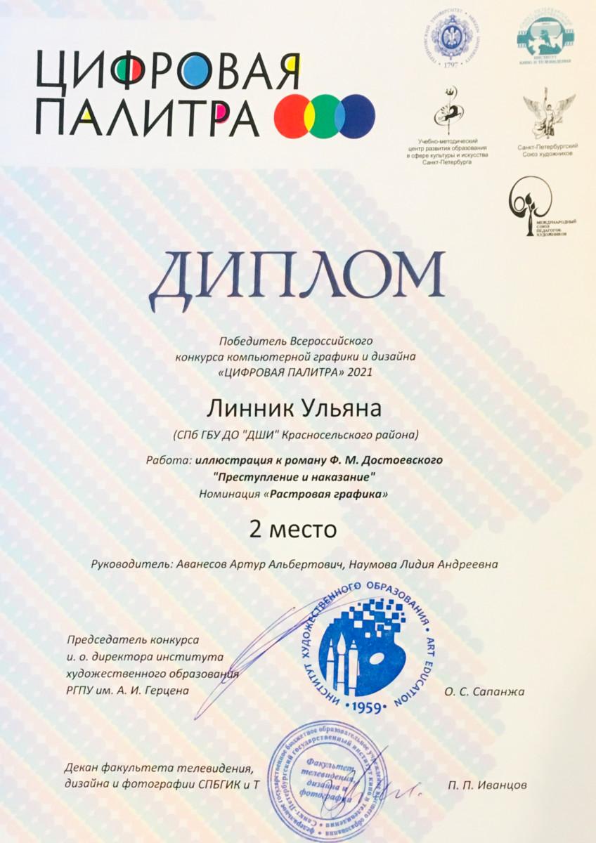 Победители Всероссийского конкурса компьютерной графики «Цифровая палитра – 2021»