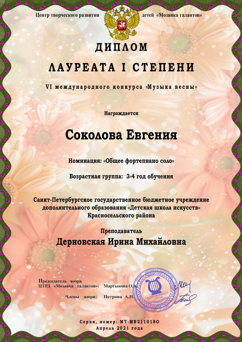 VI Международный дистанционный конкурс «Музыка весны»
