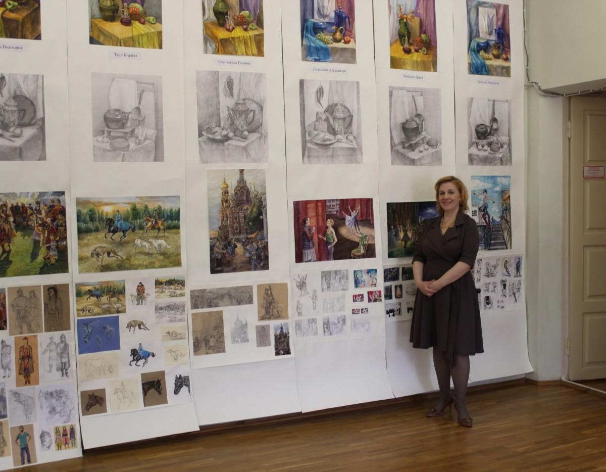 Выставка выпускников художественного отделения