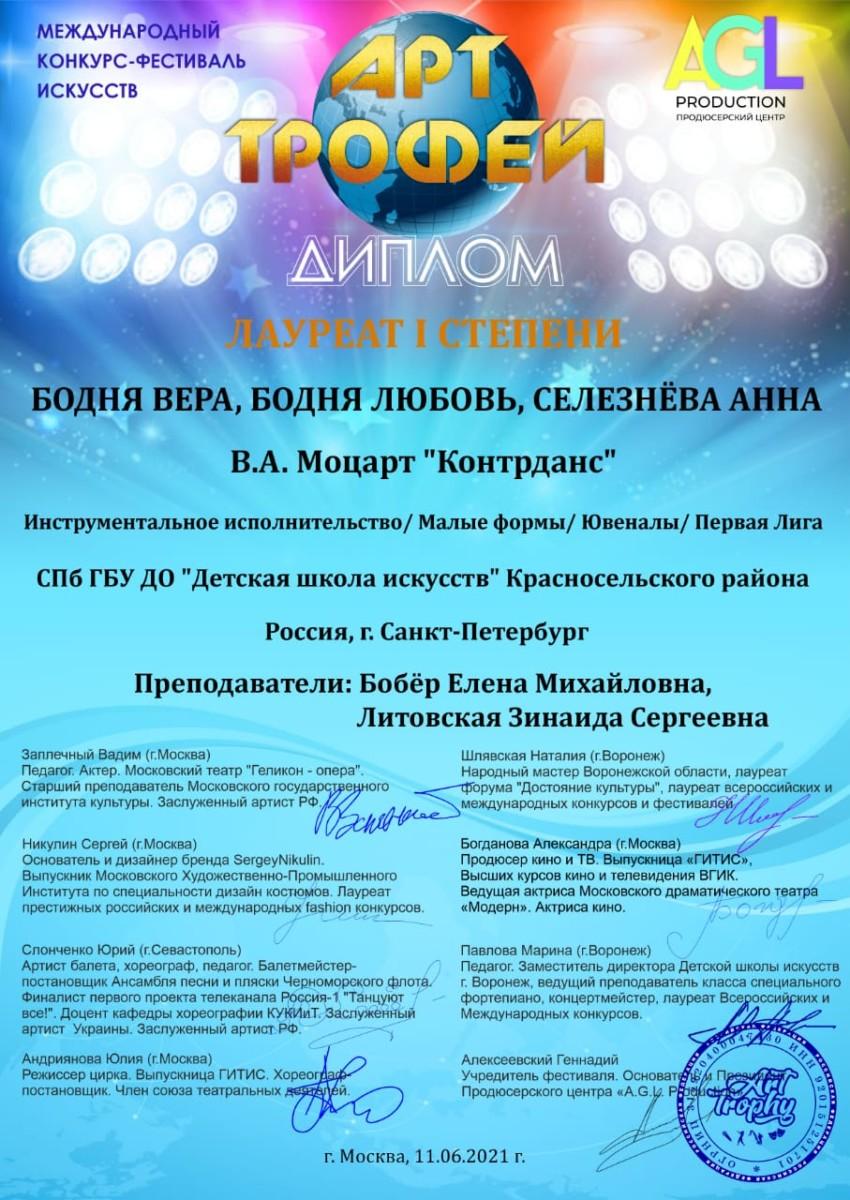 Международный конкурс-фестиваль искусств «Арт-Трофей»